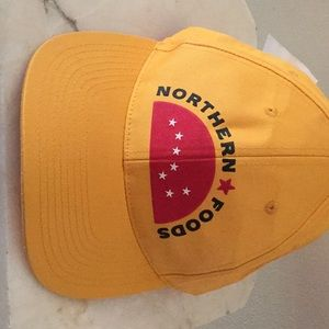Northern Foods yellow hat, new with tags